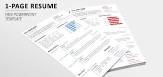 1 page resume template page minimalist resume cv template for powerpoint