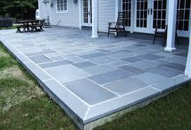 Color Concrete Patio by Concrete Patio With Bluestone Border Google Search Exterior