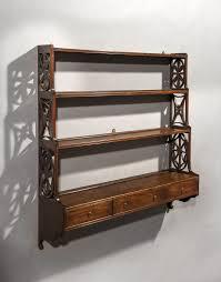 set of 18th century george iii period mahogany hanging shelves
