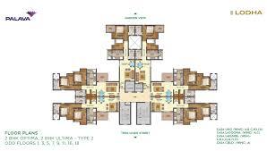 2bhk House Plans Lakeshore Greens Layout And Floor Plan Lodha Palava