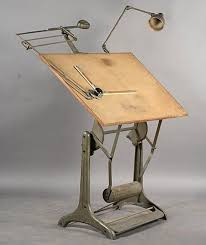 Mechanical Drafting Tables Vintage Labeled Mechanical Drafting Table Lot 316