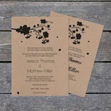Kraft Paper Wedding Programs Damask Pocket Wedding Invitation Template From Graphicartdesign