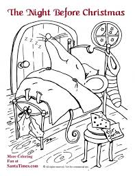 twas the night before christmas coloring pages or marvellous twas