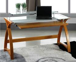 idabel dark brown wood modern desk with glass top glass top writing desk gorgeous corner laptop desk for small