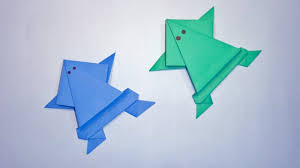 how to make paper frog origami frog that jumps easy paper