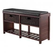 Southport Shoe Storage Bench With Cushion Cushion Storage Bench Foter