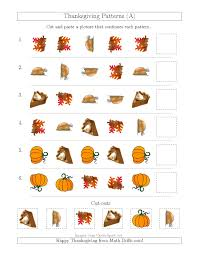 thanksgiving flash cards thanksgiving picture patterns with shape and rotation attributes a