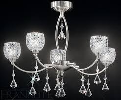 sherrie 5 light satin nickel chandelier fl2292 5 franklite
