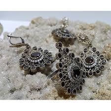 sterling silver ottoman set
