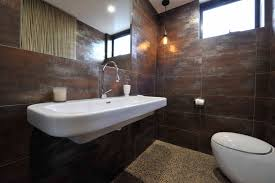 Bathroom Tile Ideas Pinterest Alisa U0026 Lysandra Ground Floor Powder Room Metallic Rust 300x600