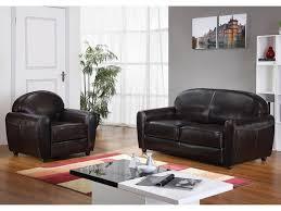 canapé et fauteuil cuir canapé et fauteuil en cuir bycast ii chocolat