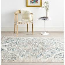 Powder Blue Area Rug Nuloom Traditional Persian Vintage Fancy Rug 8 U0027 X 10 U0027 Free