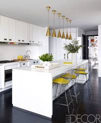 White Kitchen Decorating Ideas Photos Kitchen Astonishing Modern White Kitchen With Cone Pendant