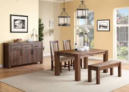 4 piece modus meadow solid wood panel back dining set usa
