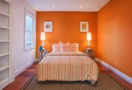 bright l for bedroom bedroom orange feature wall mood colors bright orange paint room