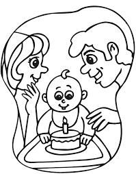birthday coloring sheets baby u0027s first birthday coloring page