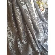 Demask Curtains Beautiful Silver Damask Curtains Contemporary Bathtub For
