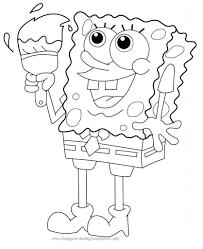 simple spongebob drawing step printable coloring pages spongebob