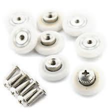 Replacement Shower Door Runners 8 X 19mm Bottom Top Shower Door Rollers Runners Wheels Replacement