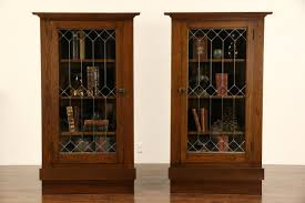 sold pair arts u0026 crafts mission oak 1905 antique corner cabinets