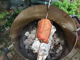 cuisine design rotissoire smoke rotisserie or add cooking space to your kettle barbecue