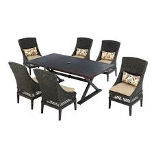 Hampton Bay Outdoor Table by Hampton Bay Woodbury 7 Piece Patio Dining Set With Textured Sand