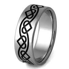 black titanium wedding bands titanium celtic promise ring ck25 titanium rings studio