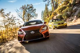 lexus vs bmw reliability 2015 bmw m4 vs 2015 lexus rc f comparison motor trend