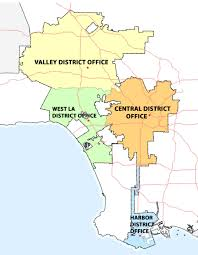 Map Of City Of Los Angeles by Office Locations Bureau Of Engineering