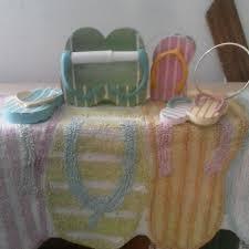 flip flop towel find more bathroom flip flop set comes with rug toilet paper