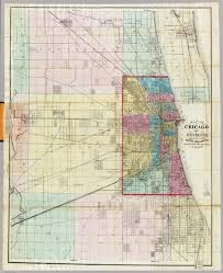 Chicago Map Poster by Map Of Chicago And Environs David Rumsey Historical Map Collection