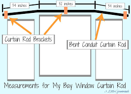 How To Hang Curtains On A Bay Window The Secret To Diy Bay Window Curtain Rods From 3 Greenwoods