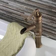 open spout bathroom faucet antique brass water pump style open spout bathroom faucet lavatory