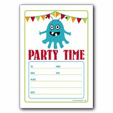 birthday party invitations template birthday party invitations