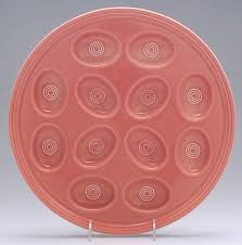 fiestaware egg plate deviled egg plates by homer laughlin at replacements ltd