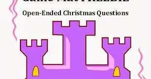speechie freebies open ended christmas questions for expressive
