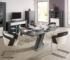 white modern dining table set fancy kitchen set in modern design with dining table and glass