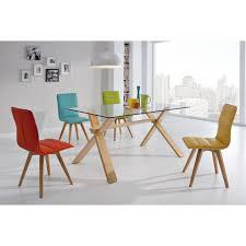 chaise cuir blanc chaises pied nordique bois cuir blanc