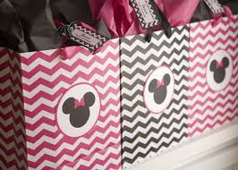 Birthday Favor Bags by Minnie Mouse Birthday Diy Inspired