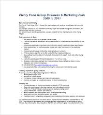 food business plan template sample catering business plan 6 free