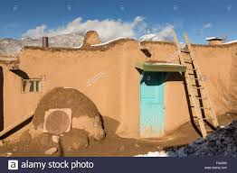 ancient adobe homes in the ancient native american taos pueblo