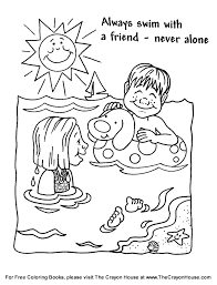 coloring pages water safety coloring pages sheets 29291 com artistic water safety christmas 3 16558