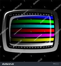 tv color test pattern test card stock vector 69416455 shutterstock
