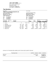 tax invoice template word doc cv word format