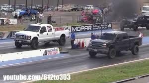 Ford Diesel Drag Truck - chevy duramax vs ford powerstroke diesel drag race youtube