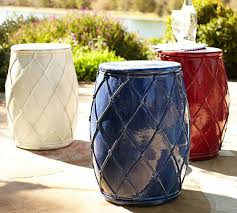Ceramic Accent Table Loving These White And Blue Net Ceramic Accent Tables
