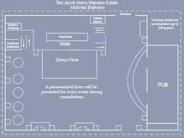 ballroom floor plan victorian ballroom receptions jacob henry mansion estate