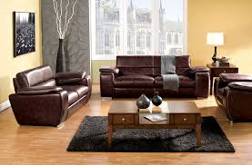 Plush Leather Sofas by 2 Pc Dinar Rustic Brown