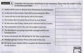 master english writing exercise 20 revision future perfect tense