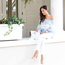 light blue off the shoulder top cold shoulder top e s life style